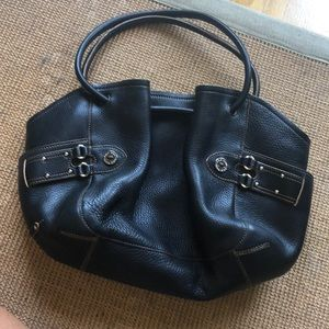 Cole-Haan Black Pebbled Leather Purse